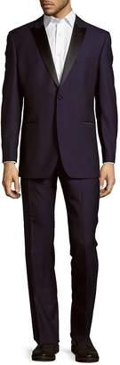 Ike Behar Ike Evening by Men's Peak Lapel Wool Tuxedo
