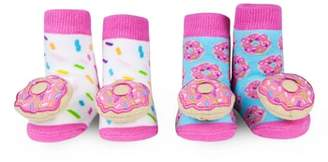 Waddle 2-Pack Donut Rattle Socks