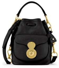 Ralph Lauren Small Ricky Drawstring Bag Black One Size