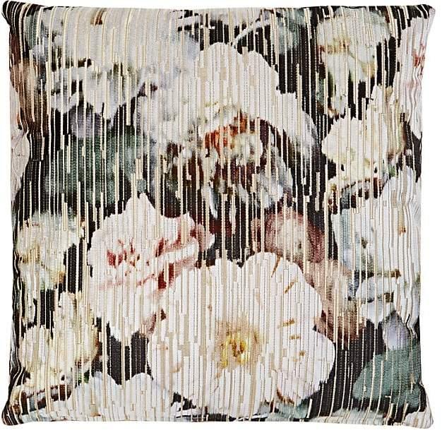 Lori Shinal Floral Velvet Pillow