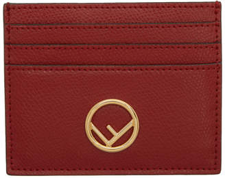 Fendi Red F is Card Holder