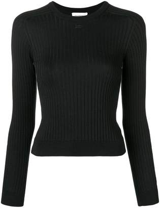 Courreges rib knit fitted sweater
