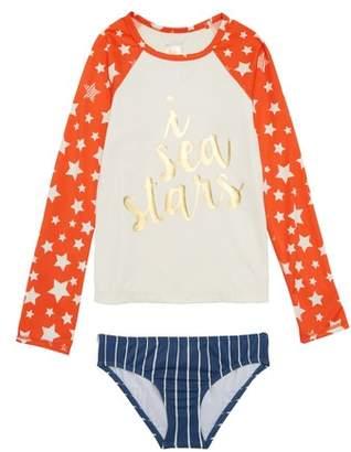 Billabong I Sea Stars Two-Piece Rashguard Swimsuit