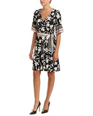 Bobeau Women's Apparel WRAP HI Low Dress with SELF SASH