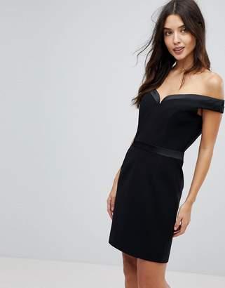Forever Unique Mini Bardot Dress