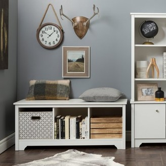 South Shore Vito Cubby Storage Bench, Multiple Finishes