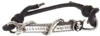 Alexander McQueen Rope & Brass Snake Bracelet