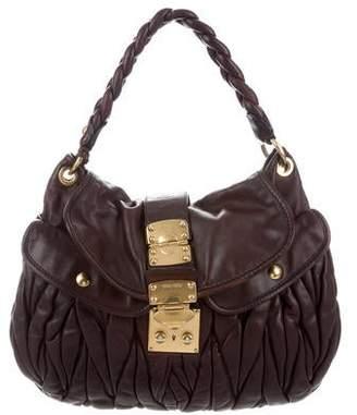 94b6e84c8851 Miu Miu Ruched Leather Satchel