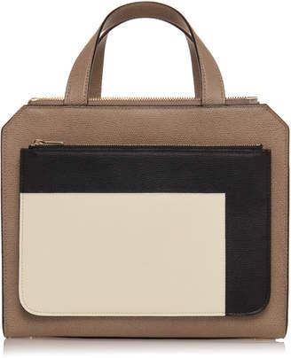 Valextra Passepartout Medium Grain Leather Bag