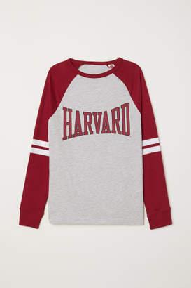 H&M Printed Jersey Shirt - Gray