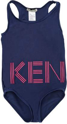 Kenzo Logo Printed Lycra One Piece Swimsuit