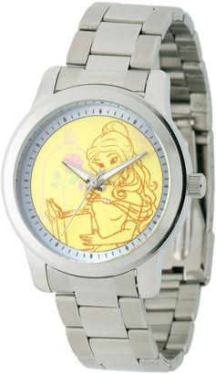 DISNEY Disney Beauty and the Beast Womens Silver Tone Bracelet Watch-W001821 $60 thestylecure.com