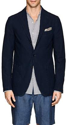 Eidos Men's Denim Three-Button Sportcoat