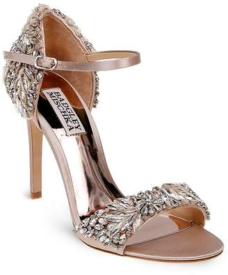 Badgley Mischka Tampa Embellished d'Orsay Ankle Strap Sandals $325 thestylecure.com