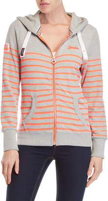Superdry Sun Sea Lite Stripe Zip Hoodie