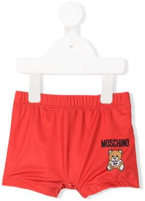 Moschino Kids logo swim shorts