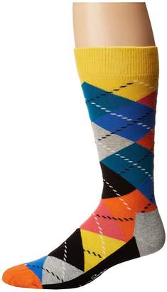 Happy Socks Argyle Socks Men's Crew Cut Socks Shoes