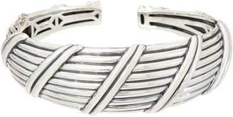 Peter Thomas Roth Sterling Silver Ribbon & Reed Tapered Cuff, 33.4g