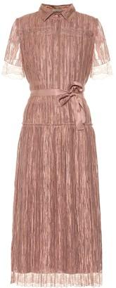 Bottega Veneta Lace-trimmed silk midi dress