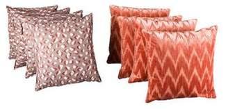 Printed Velvet & Linen Pillow Set