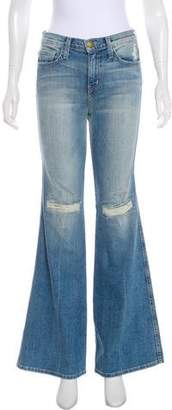 Current/Elliott The Girl Crush Distressed Mid-Rise Flare-Leg Jeans w/ Tags