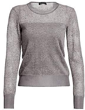 Rag & Bone Women's Charlotte Buffalo Check Crewneck Sweater