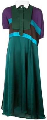 Sacai bib detail polo dress