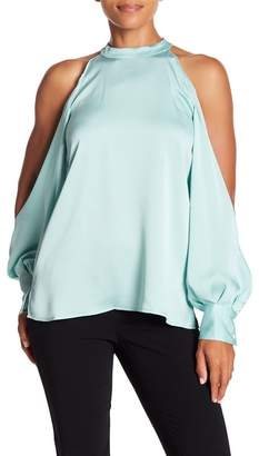 1 STATE 1.State Cold Shoulder Chiffon Blouse