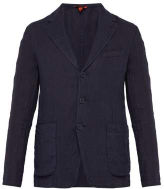 Barena Venezia - Single Breasted Slubbed Linen Jacket - Mens - Navy