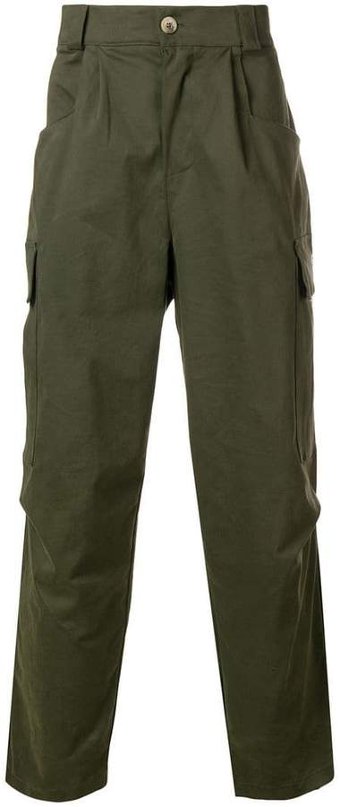 The Silted Company straight cargo trousers