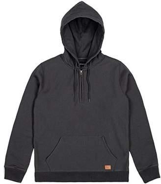 Brixton Men's Longman 1/2 Zip Hood Fleece