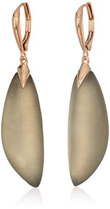 Alexis Bittar Curved Capped Lucite Lever Back Drop Earrings
