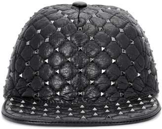 Valentino Rockstud leather hat
