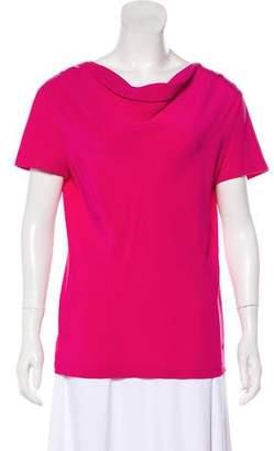 Salvatore Ferragamo Silk-Paneled Gancini T-Shirt