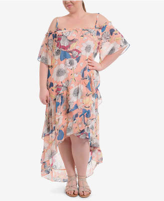 NY Collection Plus Size Off-The-Shoulder Maxi Dress