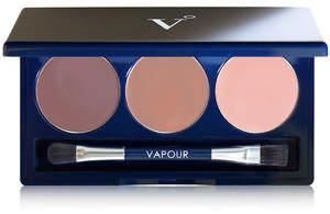 Vapour Organic Beauty Artist Eye Palette - Mediterranean - deep brown mushroom taupe and golden peach pink