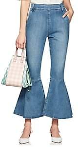 Frame Women's Flounce Side-Zip Flared Jeans-Md. Blue