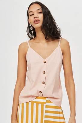 Topshop Pink Button Through Camisole Top