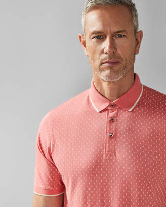 Ted Baker TOFFTT Geo print cotton polo shirt