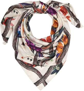 Reiss Maya Bold Floral Printed Silk Scarf