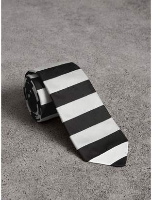 Burberry Slim Cut Striped Silk Twill Tie