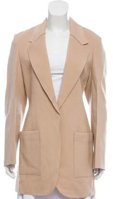 Calvin Klein Collection Raw-Edge Wool Coat