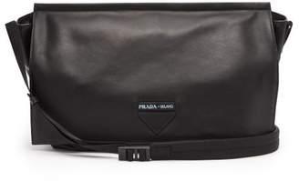 Prada Leather Cross Body Bag - Mens - Black