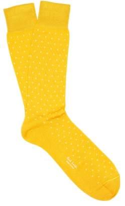 Paul Smith Polka Dot Cotton Blend Socks - Mens - Yellow
