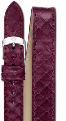 Michele 18mm Snake Double-Wrap Watch Band, Plum