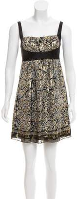 Nicole Miller Silk Printed Dress