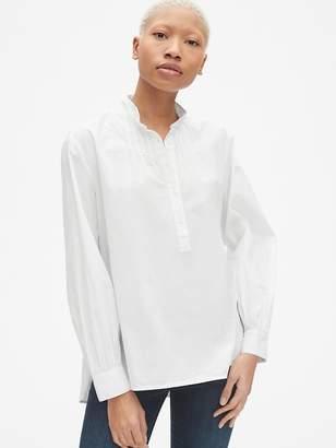 223c280d056bd White Button Popover Shirt - ShopStyle