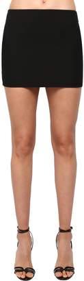 Saint Laurent Wool Gabardine Mini Skirt