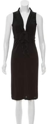 Galliano Sleeveless Midi Dress