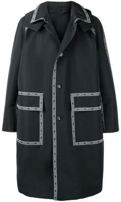 Versace Nastro hooded parka